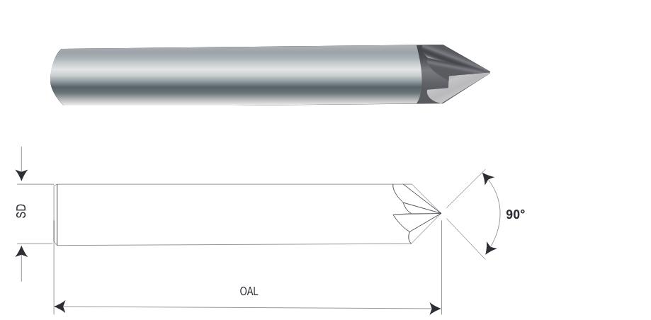 超硬 6枚刃面取りカッター(90°)